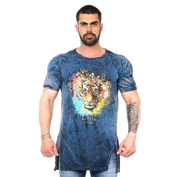 Camisa Long LS Tiger Azul