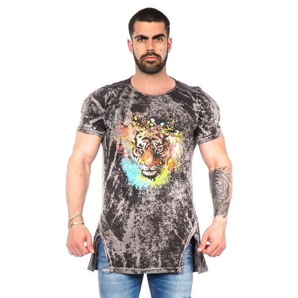 Camisa Long LS Tiger Preta