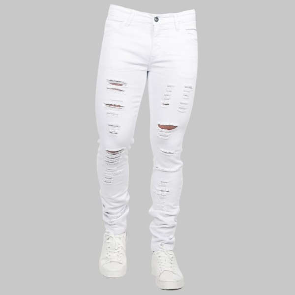 Calça Jeans Slim Fit White 15228