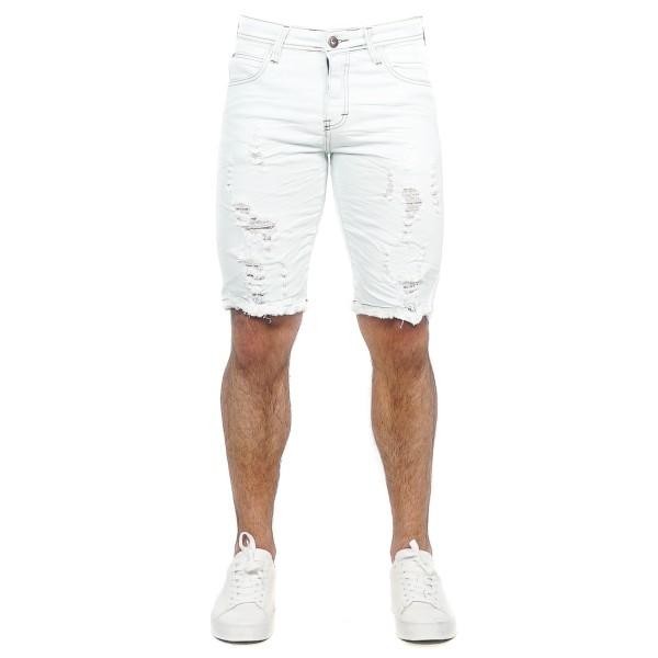 Bermuda Jeans Slim Fit White 14354