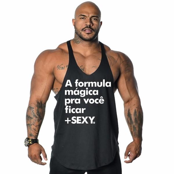 Regata Anatomic Frases A Formula Mágica Preta