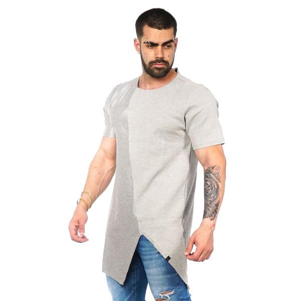 Camisa Long LS Half Cinza