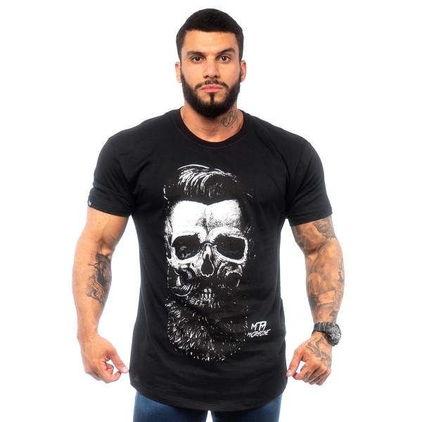 Camisa Long MTMRFS Skull Barber Preta