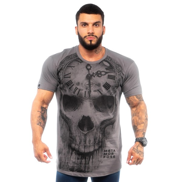 Camisa Long MTMRFS Skull Watch Chumbo