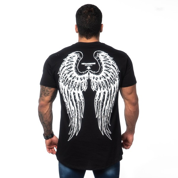 Camisa Long Concept Wings Black