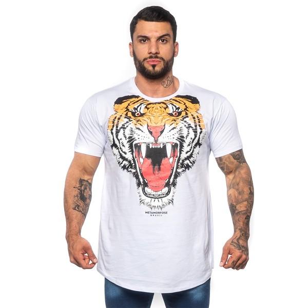 Camisa Long Tiger Branca