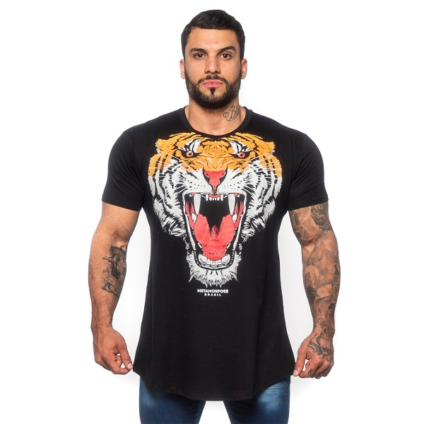 Camisa Long Tiger Preta
