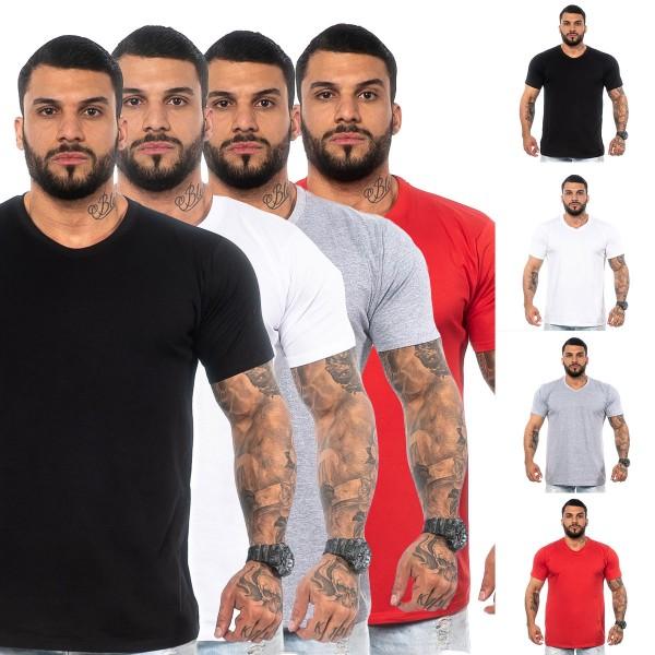 Kit 4 Camisas T-Shirt Lisas Variadas