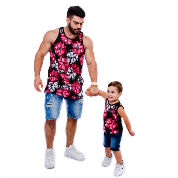 Regatas Flower 01 Pai e Filho