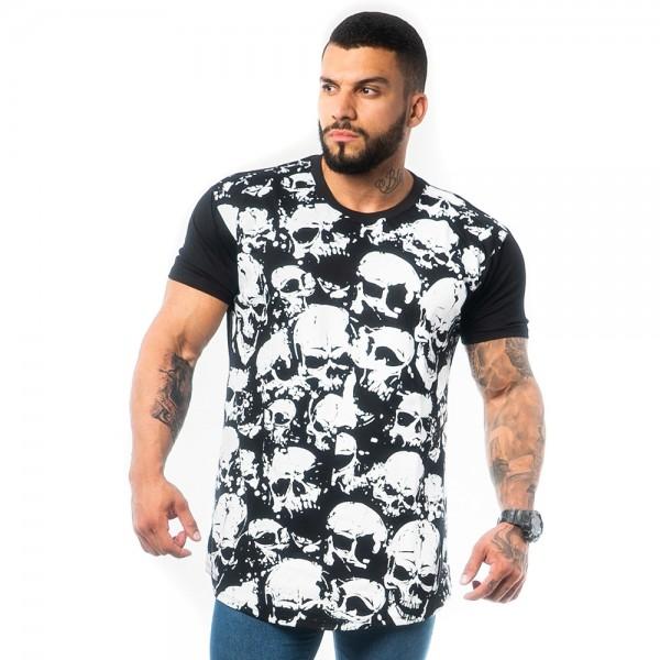 Camisa Long All Skull Preta