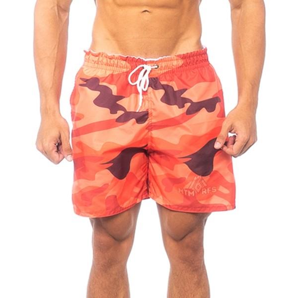 Beach Shorts Camo Orange