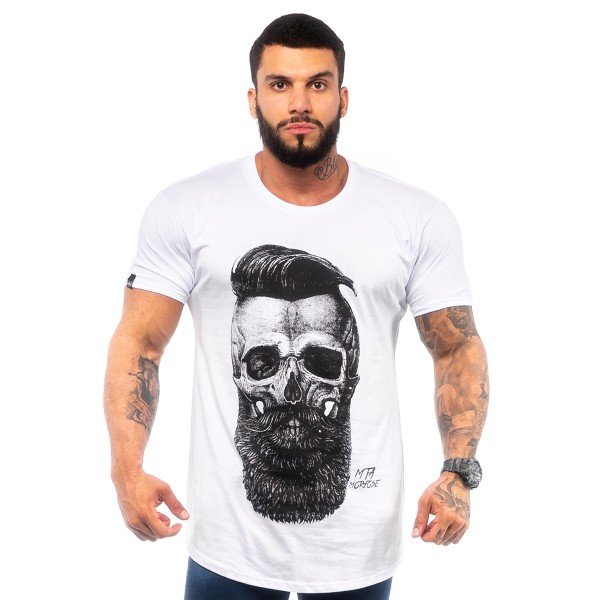 Camisa Long MTMRFS Skull Barber Branca