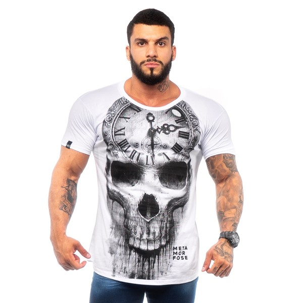Camisa Long MTMRFS Skull Watch Branca