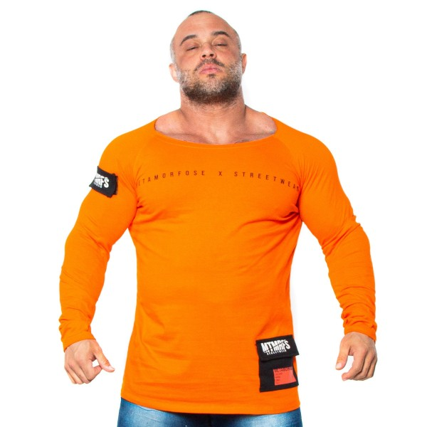 Camisa Long Cotton LIFESTYLE Orange