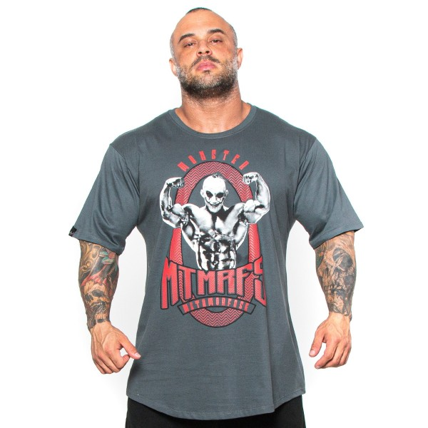 Camisa Monster Size Mr Olympia Cinza Chumbo