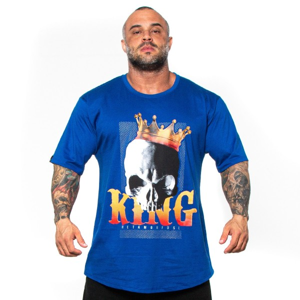 Camisa Monster Size King Azul Royal