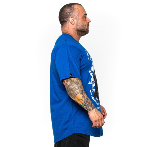 Camisa Monster Size Urban Style Azul Royal
