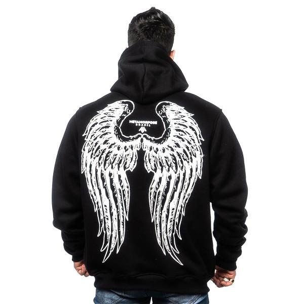 Casaco Angel Wings Ziper Black