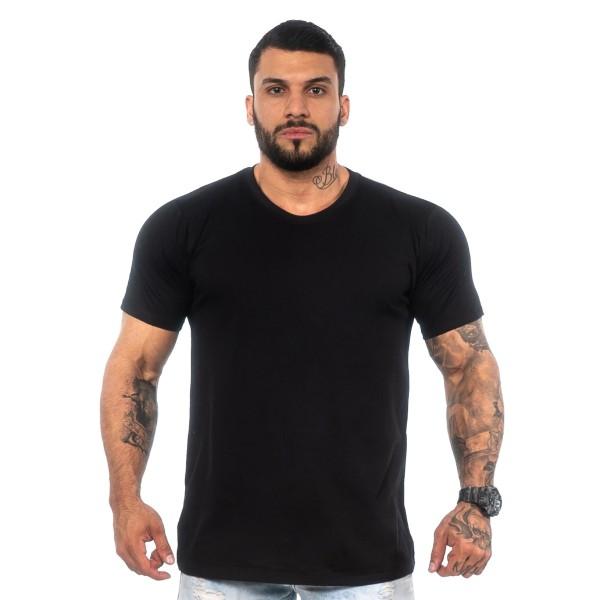 Kit 4 Camisas T-Shirt Lisas Pretas