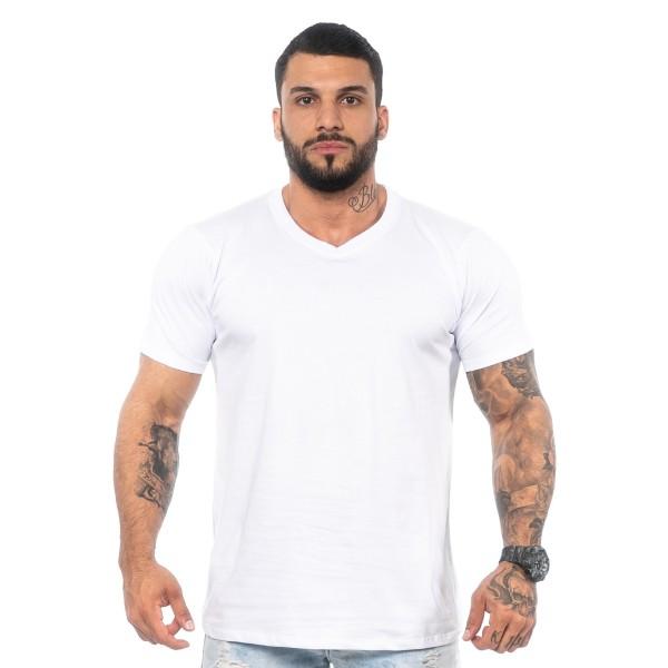 Kit 4 Camisas T-Shirt Lisas Brancas