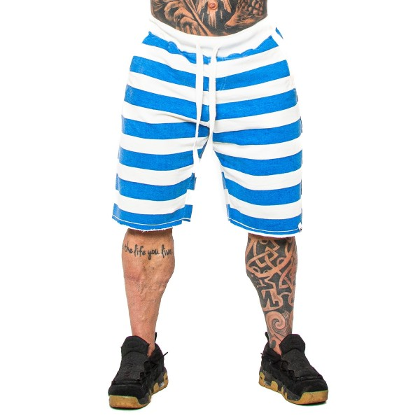 Bermuda Moletom Strips Azul