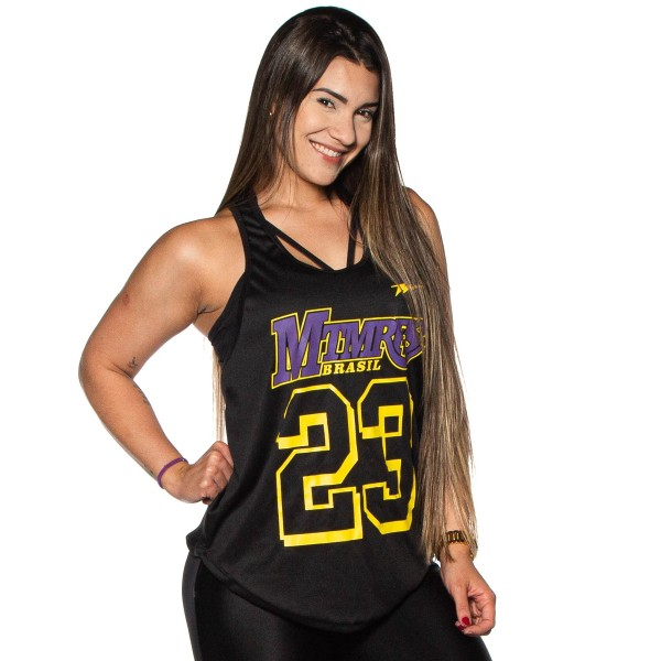 Regata Feminina Anatomic Dry Lakers Preta