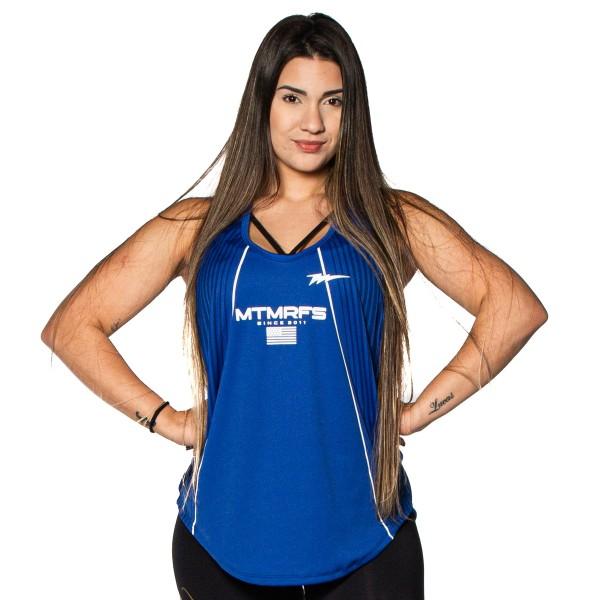 Regata Feminina Anatomic Dry RUNNER Azul