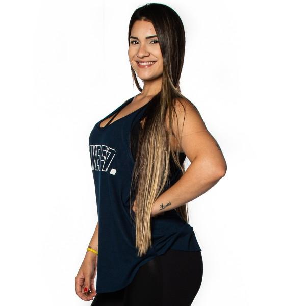Regata Feminina Anatomic ViscoFit LIVEFIT Azul Marinho